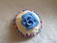 Fresh creative American style cupcakes