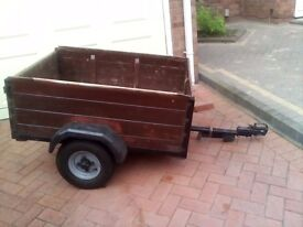 Camping trailer wooden