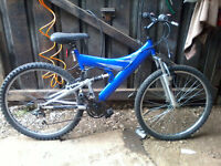 "Concept 2000 mountain bike full suspension 26"" wheels"