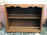 Wooden Wall Hung Kitchen Display Cabinet