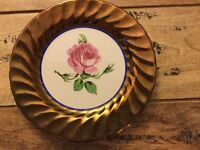 Lustre rimmed creigiau pottery plate for sale