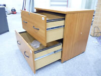 Office Storage Filing Cabinet with 2 Drawers and Metal Runners Handles