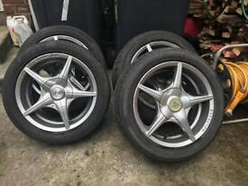 Wolfrace wheels 15ich 4x108