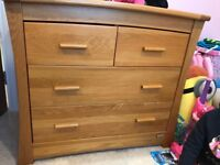 Mamas and papas drawers with nappy changing space