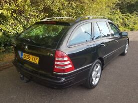 MERCEDES C200 CDI AUTO AUTOMATIC ESTATE AVANTGARDE 114K BLACK 12 MOT C220 **FULL SERVICE HISTORY**
