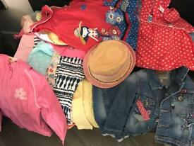 Large Bundle of girls summer clothes 18-24months