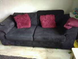 3 x 2 seater brown cord sofa very expensive new