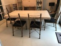 Dining Table Stone effect and 6 chairs