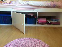 Childrens bed with storage underneath