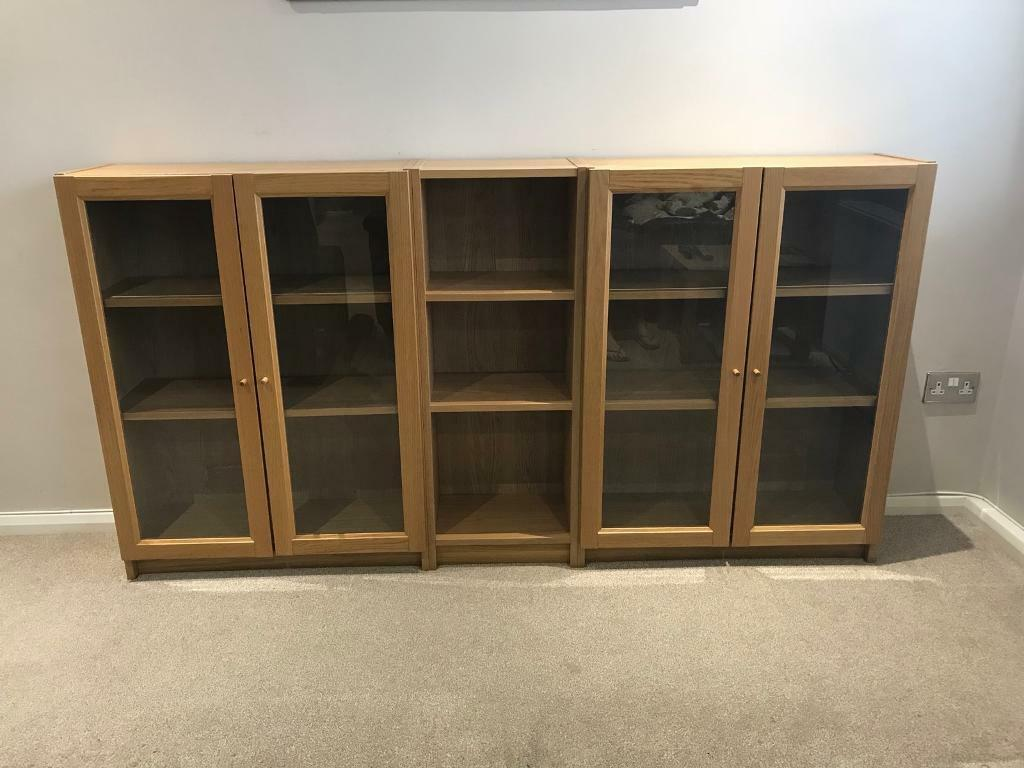 Ikea Billy bookcases as sideboard set x 3 with glass doors in Bradley Stoke, Bristol Gumtree