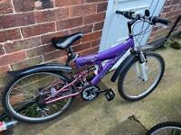 Girls full suspension mountain bike age 11 plus