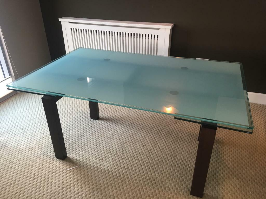 Caligaris glass dining room table - high quality Italian table!