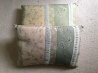 2 X BEAUTIFUL LAURA ASHLEY SILK CUSHIONS PILLOWS