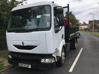 Renault 7.5 ton tipper 2003 year june 2017 mot. ready for work