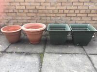 4 x plant pots
