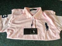 Baby pink Ralph Lauren polo shirt