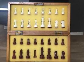 Chess wooden box