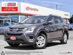 2015 Toyota RAV4 LE Toyota Certified, One Owner, Toyota Serviced