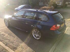 BMW 330i M-Sport Touring, 6spd Manual, Le Mans blue with Dakota Lemon leather, 12 Mths MOT