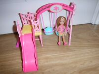Barbie Chelsea Swing Set With Chelsea Doll New Condition