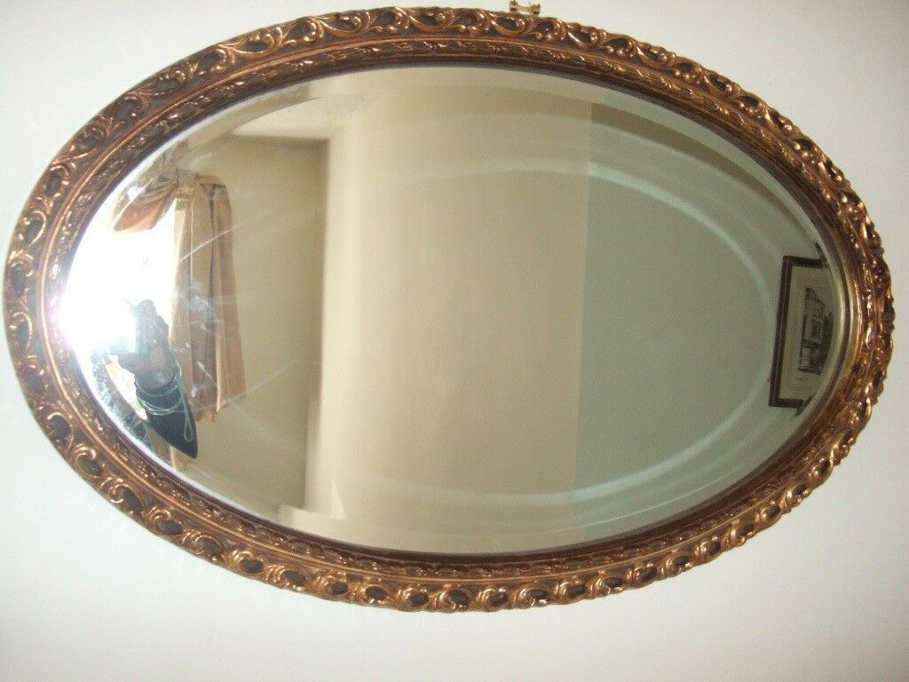 STUNNNG LARGE VICTORIAN GILT FRAMED MIRROR/OVERMANTLE BEVELLED EDGE TO GLASS