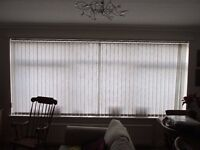 Vertical blinds, very good condition, fits window 355cm wide, 154cm deep for a town house