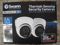 NEW SWANN 5MP CCTV DOME CAMERAS THERMAL SENSING ( NO DVR JUST CAMERAS )