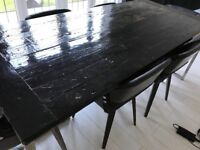 Lovely Dining Table (SIA) plus 6 Chairs (not SIA)