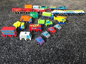 ELC wooden train and road track