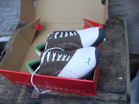 PUMS GOLF SHOES BRAND NEW IN BOX SIZE 6.5 COST £89.99 ! PLUS OTHERS SIZE 7.5 , 5 & 4.5