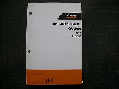 Case 845 Motor Grader Operators Owner Operation Manual Guide Road Book