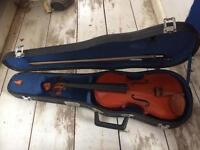 Old 1/2 size violin ( for parts? )