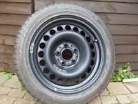 ** Continental 205/55 R16 Tyre and Rim **