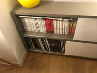 Grey and white Low storage unit from Habitat