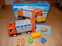 Playmobil Recycling/Rubbish/Dustbin Lorry with Box in Excellent condition