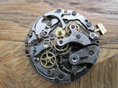 Vintage Used TITUS Genève Chronograph Movement Cal. Landeron 48. For parts.