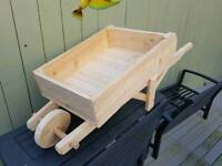 Wooden hand made wheel Barrow