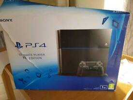 PS4 1TB with leads and controller