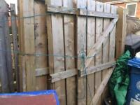 Wooden gate and fencing