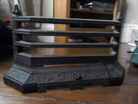 Black cast iron fire grate