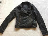 Atmosphere ladies waist jacket Faux leather Size 10 used £5