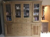 Oak dresser large 8ftx7,6