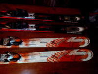 SKIS 2 PAIR K2 Apache Xplorer and Rossignol Z15 Mutix SUPERB!