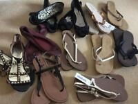 Ladies pumps & sandals x 11 pairs