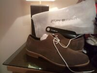 Brand new antoine & stanley Australian designer beige suede mens shoes uk size 10 RRP £120