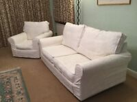 3 piece suite, sofa and 2 chairs