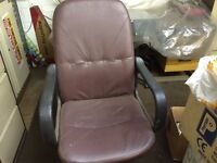 Pair of matching office chairs