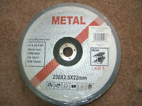 Metal cutting disks for angle grinder 30 x 9 inch (220 x 2.5 x22mm)