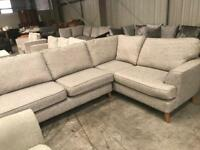 Brand new silver grey corner sofa from Marks and Spencer's