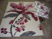 Next Rug and 3 Matching Cushions and Decorative Ornaments